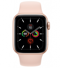 Apple Watch Series 5 40mm - Goud Aluminium Roze Sportband