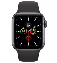Apple Watch Series 5 40mm - Space Gray Aluminium Zwarte Sportband