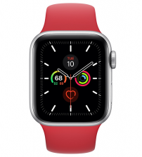 Apple Watch Series 5 40mm - Zilver Aluminium Product Red Sportband