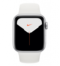 Apple Watch Series 5 40mm Nike+ Editie - Zilver Aluminium Witte Sportband