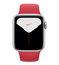 Apple Watch Series 5 40mm Nike+ Editie - Zilver Aluminium Product Red Sportband