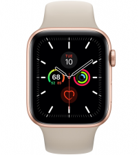 Apple Watch Series 5 44mm - Goud Aluminium Beige (steengrijs) Sportband