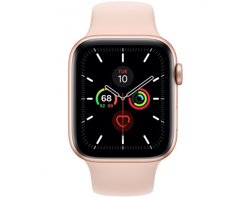 Apple Watch Series 5 44mm - Goud Aluminium Roze Sportband