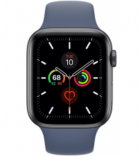 Apple Watch Series 5 44mm - Space Gray Aluminium Donkerblauwe Sportband