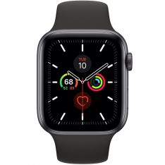 Apple Watch Series 5 44mm - Space Gray Aluminium Zwarte Sportband