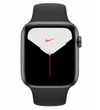 Apple Watch Series 5 44mm Nike+ Editie - Space Gray Aluminium Zwarte Sportband