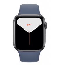 Apple Watch Series 5 40mm Nike+ Editie - Space Gray Aluminium Donkerblauwe Sportband