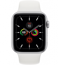 Apple Watch Series 5 44mm - Zilver Aluminium Witte Sportband