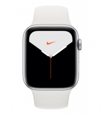 Apple Watch Series 5 44mm Nike+ Editie - Zilver Aluminium Witte Sportband