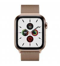 Apple Watch Series 5 44mm (goud) - Gold Stainless Steel Case with Milanese Loop