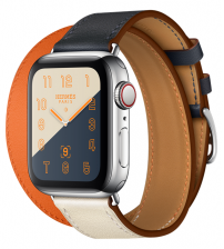 Apple Watch Series 5 44mm Hermes - RVS behuizing met double strap Hermes band