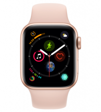 Apple Watch Series 4 40mm Goud / Roze Sportband (GPS)