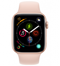 Apple Watch Series 4 44mm Goud / Roze Sportband (GPS & 4G/LTE)