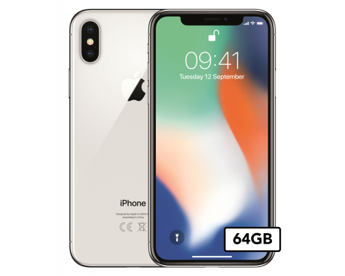Apple iPhone X - 64GB - Zilver (EXCL. FACEID)