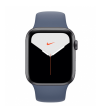 Apple Watch Series 5 44mm Nike+ Editie - Space Gray Aluminium Donkerblauwe Sportband