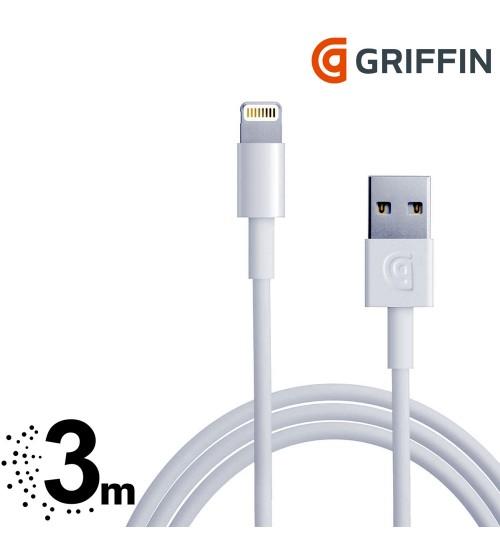 griffin iphone lightning kabel 3m. Black Bedroom Furniture Sets. Home Design Ideas